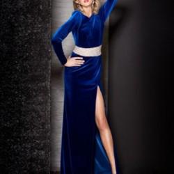 Yırtmaçlı Kadife Elbise Modelleri