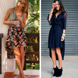 Yeni Asimetrik Kesim Elbise Modelleri