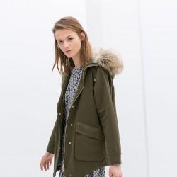 Zara Haki Yeşili Ceket Modelleri