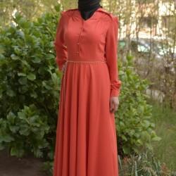 Zarif Bayramlık Tesettür Elbise Modelleri