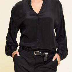 Siyah Yeni İpek Bluz Modelleri,