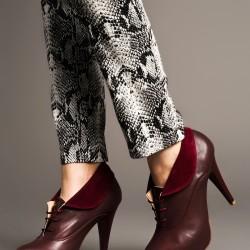 Topuklu Bordo Bambi Ayakkabı Modelleri