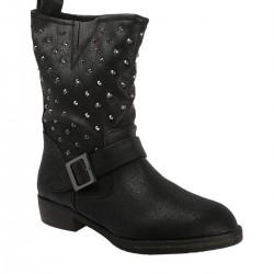 Zımbalı Siyah Skechers Çizme Modelleri