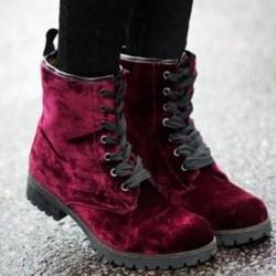 Bordo Süet Bot 2015 Kışlık Ayakkabı Modelleri