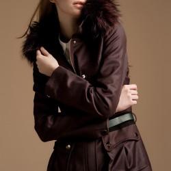 Bordo Trençkot Yeni Sezon Versace Modelleri