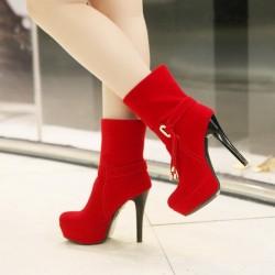 Kırmızı Bot 2015 Kışlık Ayakkabı Modelleri