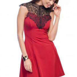 Kırmızı Elbise Sateen Yeni Sezon Modelleri