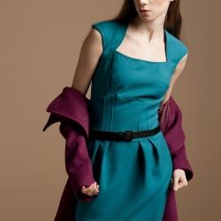 Petrol Yeşili Elbise Yeni Sezon Versace Modelleri