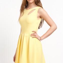 Sarı Yılbaşı Elbiseleri