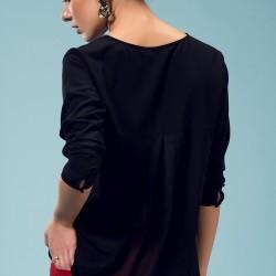 Siyah Bluz Yeni Sezon adL Modelleri