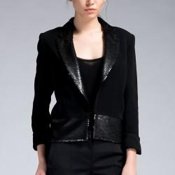 Siyah Ceket Yeni Sezon İpekyol Modelleri