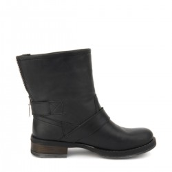 Siyah Deri Bot Beta Ayakkabı Modelleri