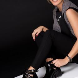 Siyah Parlak Bot Soho Ayakkabı Modelleri
