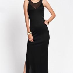 Tül Detaylı Siyah Yılbaşı Elbiseleri