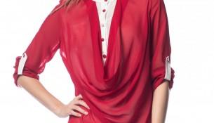 Şifon Kırmızı 2015 Tunik Modelleri