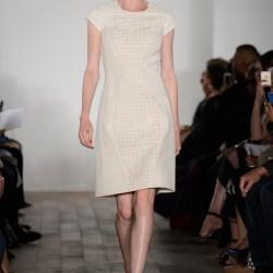 Beyaz Elbise Zac Posen 2015 İlkbahar - Yaz Koleksiyonu