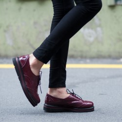 Bordo Rugan Pembe Potin 2015 Ayakkabı Modelleri