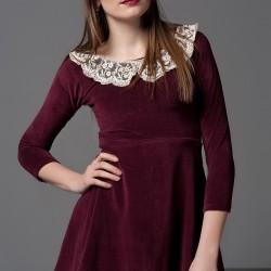 Dantel Yakalı Mini Elbise 2015 Trend Modeller