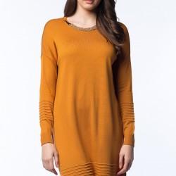 Kolyeli Hardal Elbise 2015 Vania Camelia Modelleri