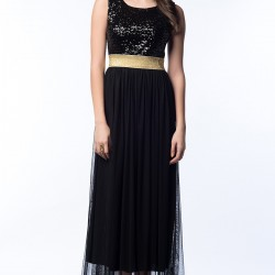 Payetli Siyah Elbise 2015 Vania Camelia Modelleri