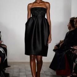 Straplez Siyah Elbise Zac Posen 2015 İlkbahar - Yaz Koleksiyonu