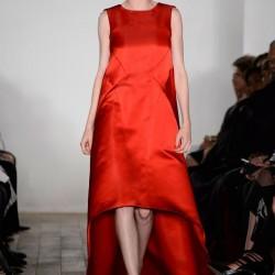 Turuncu Elbise Zac Posen 2015 İlkbahar - Yaz Koleksiyonu