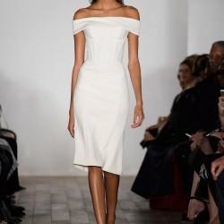 Zarif Beyaz Elbise Zac Posen 2015 İlkbahar - Yaz Koleksiyonu