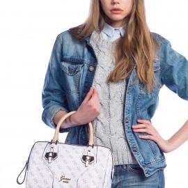 Şık Beyaz Guess 2015 Çanta Modellerii