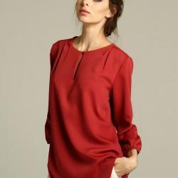 Şık Bluz Trend Renk Marsala Modelleri