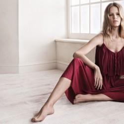 Bordo Askılı Elbise Mango 2015 İlkbahar Modelleri