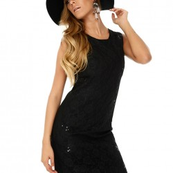 Dantelli Siyah Sense Elbise Modelleri