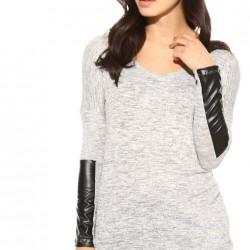Deri Detaylı Bluz Yeni Tiffany Modelleri