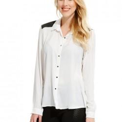Deri Detaylı Gömlek Alexa Dash Yeni Sezon Modelleri
