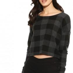 Desenli Crop Bluz Yeni Tiffany Modelleri