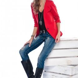 Kırmızı Ceket Pretty Mark 2015 Modelleri