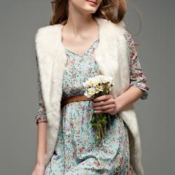 Kemerli Mavi Elbise Mixray Sevgililer Gününe Özel Koleksiyon