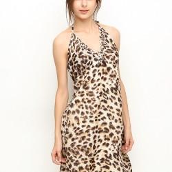 Leopar Desenli Elbise 2015 Silk And Cashmere Modelleri