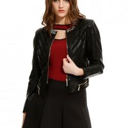 Siyah Deri Ceket Alexa Dash Yeni Sezon Modelleri