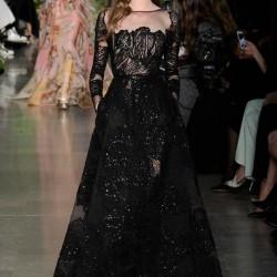 Siyah Elbise Elie Saab 2015 İlkbahar - Yaz Haute Couture Koleksiyonu