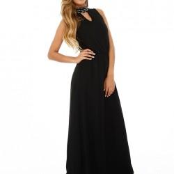 Uzun Tül Detaylı Siyah Sense Elbise Modelleri