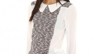 Yaka Detaylı Bluz 2015 Koton Modelleri