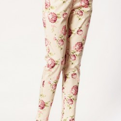 Çiçek Desenli Pantolon Jimmy Key Yeni Sezon Modelleri