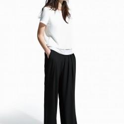 İki Katlı Krep Beyaz Mango 2015 Bluz Modelleri