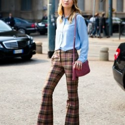 İspanyol Paça Yeni Sezon Ekose Pantolon Modelleri