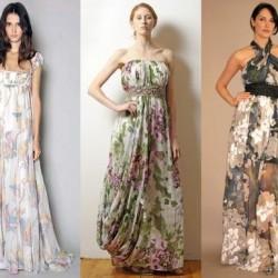 Şık Yeni Sezon Çiçek Desenli Elbise Modelleri