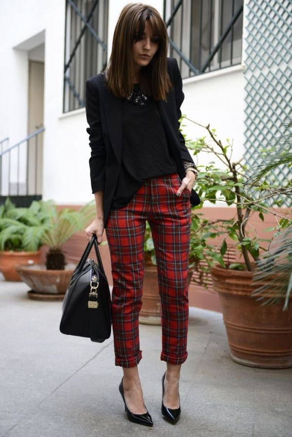Şık Yeni Sezon Ekose Pantolon Modelleri