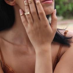 Altın Rengi Eklem Yüzüğü 2015 Takı Modelleri