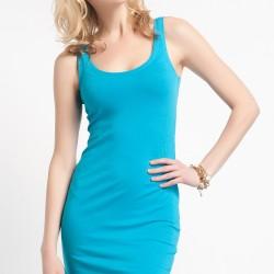 Askılı Turkuaz Elbise Jimmy Key Yeni Sezon Modelleri