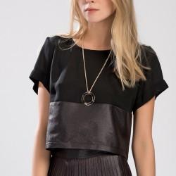 Deri Detaylı Setre 2015 Bluz Modelleri