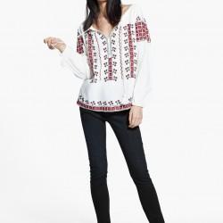 Etnik Desenli Mango 2015 Bluz Modelleri